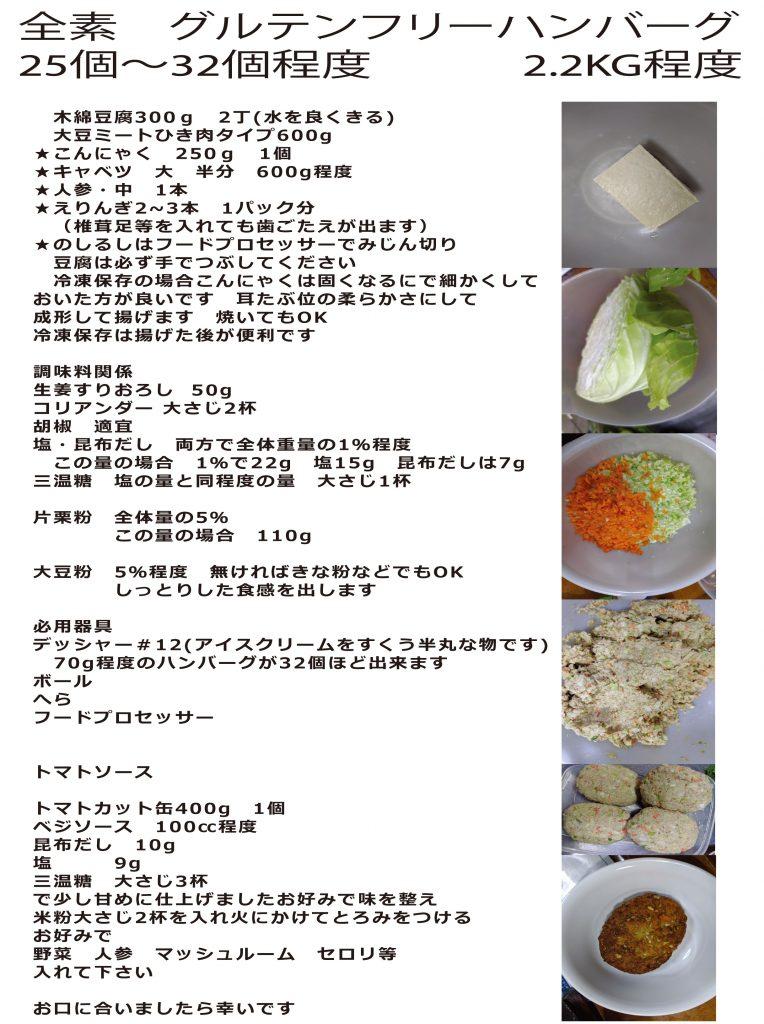ヴィーガン料理・グルテンフリー対応ベジタリアンハンバーグレシピ